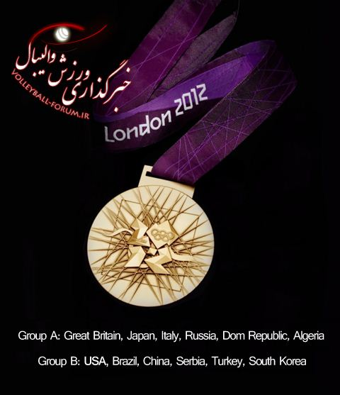 برنامه مسابقات والیبال زنان المپیک 2012 لندن